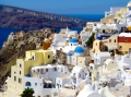 Oia Santorini, where the beer ain't cheap... but the views are p